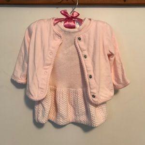 Janie & Jack sweater dress/jacket combo, Like-new